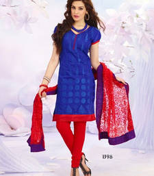 Buy New Blue And Red Salawar Kameez  dress online
