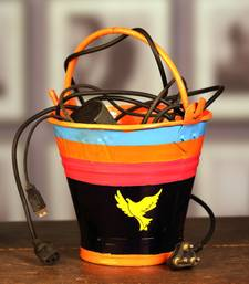 Buy Bucket, Magazine Holder, Planter Pot, Dust Bins. BU fb A MuHeNeRa hand painted collection pot online