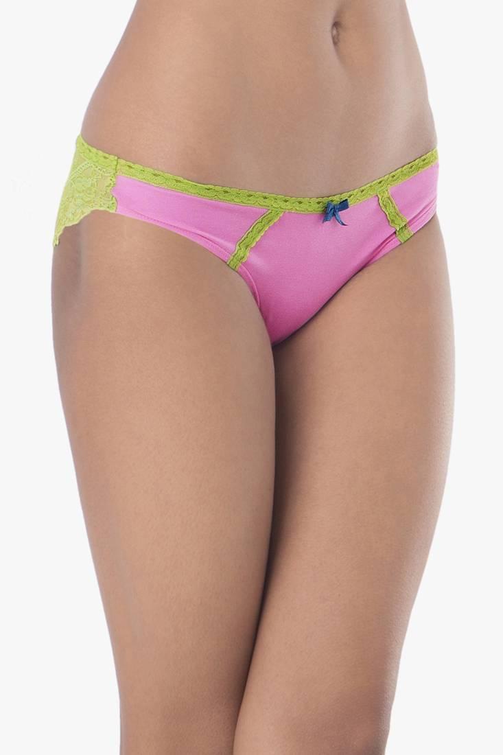 Buy Prettysecrets Cotton Lace Bikini Online