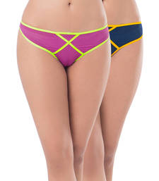 Buy PrettySecrets Mesh Thong (Pack Of 2) panty online