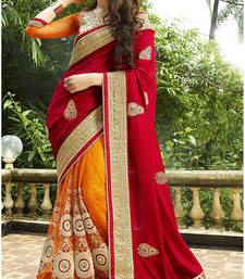 Buy Multicolor embroidered georgette saree with blouse georgette-saree online