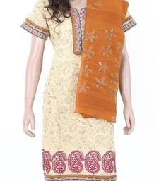 Buy Ethnic designer embroidered cotton salwar kameez size L 901985 salwars-and-churidar online