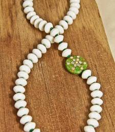 Buy White & Green Kundan Necklace necklace-set online