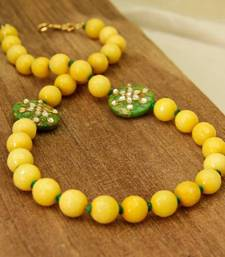 Buy Lemon Yellow Agate Necklace necklace-set online