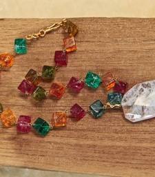 Buy Multi-colored Cube Necklace necklace-set online
