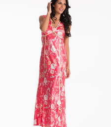 Buy cherry floral long nightdress nightwear online