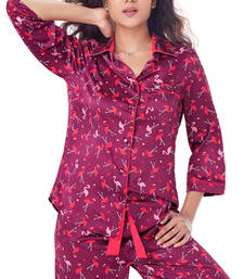 Buy PrettySecrets Satin Pajama Set nightwear online