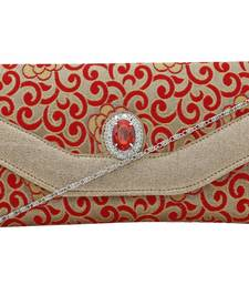 Buy Red brocade clutches clutch online