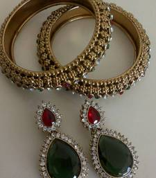 Buy Designer Earings with Traditional Bangles bangles-and-bracelet online