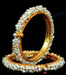 REAL PEARLS SEED PEARLS BANGLES FROM HYDERABAD(SRIDEVI BANGLE
