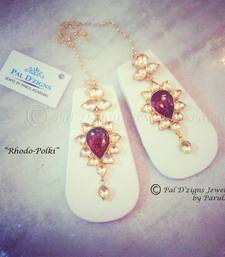 Buy Rhodo-Polki Earings danglers-drop online