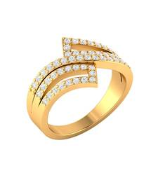 Buy Gold studded_jewellery rings engagement-ring online