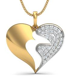 Buy 0.23ct diamond 18kt gold pendants gemstone-pendant online