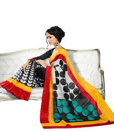 Buy Hypnotex Black Art Silk Printed Saree Rushi10047 party-wear-saree online