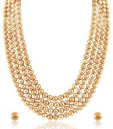 Buy Shell pearl Golden semi precious gemstone-necklaces gemstone-necklace online