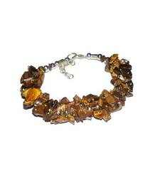 Buy Tiger eye uncut stone chip bracelet healing crystal gemstone jewellery other-gemstone online