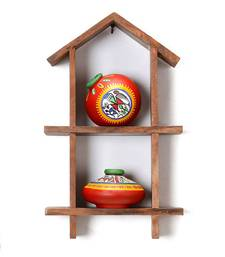Buy Hand Painted miniature pots with  Wooden Wall D    cor wall-hanging online