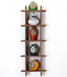 Buy Five Tier Wall D    cor with Hand painted Terracotta Pots gifts-for-mom online