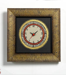 Buy Handcrafted Worli painted Wooden Wall clock gifts-for-mom online