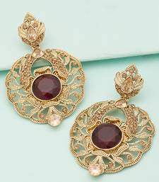 Buy Gold crystal earrings danglers-drop online