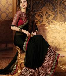 Black Embroidered Georgette Sarees