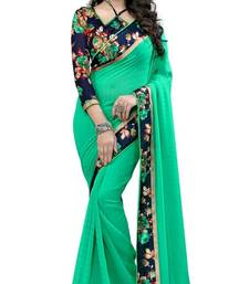 Buy Green hand woven georgette saree with blouse georgette-saree online