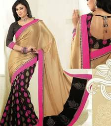 Buy Cream & Black Color Simmar & Bhagalpuri saree SNLS2215 bhagalpuri-silk-saree online