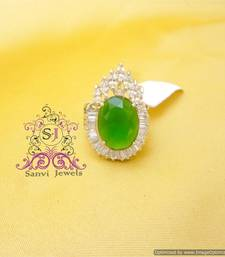 Buy Emerald Zircon Diamond look Cocktail Ring Ring online