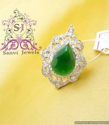 Buy American Diamond Emerald Cocktail Ring Ring online