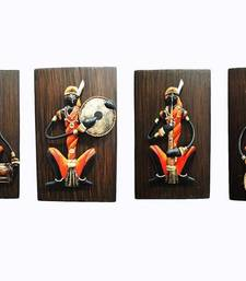 Buy Set of 4 Beautiful Adivasi Rajasthani Ladies wall-art online
