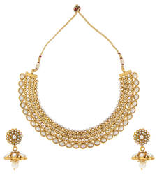 Buy Adiva Women's Ethnic Glowing Indian Traditional Festive Jewelry Necklace Set necklace-set online