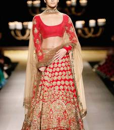 Buy Best Deal Designer red Embroidered Jacquard Fancy Lehenga with Blouse ghagra-choli online