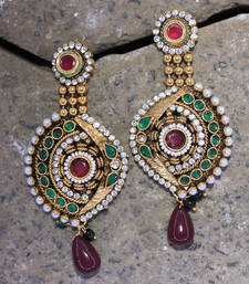 Buy antiqueearringno220 danglers-drop online