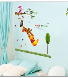Buy Kids - Dosti Yaari Cartoon' Wall Sticker (60 cm X 90 cm) wall-decal online