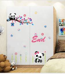 Buy Panda Cartoon Owl' Wall Sticker (60 cm X 90 cm) wall-decal online
