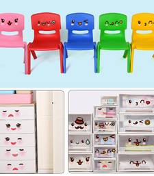 Buy Very Cute Facial Expressions' Wall Sticker (30 cm X 60 cm) wall-decal online