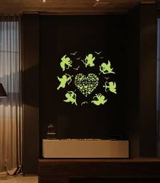 Buy Radium Love Angels' Glow in Dark Wall Sticker (21 cm X 29.7 cm) wall-decal online
