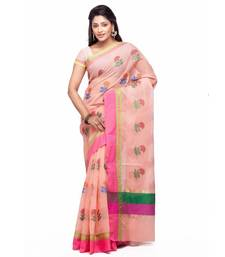 Buy Peach embroidered silk saree with blouse kota-silk-saree online