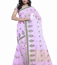 Buy Light Purple Cotton Handloom Traditional Saree kota-silk-saree online