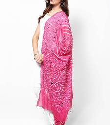 Buy Amazing Pink Cotton Bandhej Dupatta stole-and-dupatta online