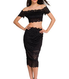 Buy Black Polyester and Spandex sexy western wear western-wear online