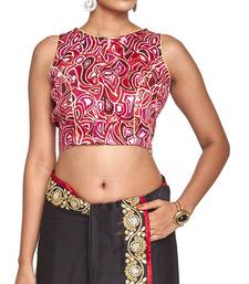 Buy Rani pink multicolor raw silk readymade blouse readymade-blouse online