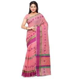 Buy Pink embroidered kota silk saree with blouse kota-silk-saree online