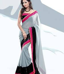 Buy Kajol Grey Chiffone Bollywood Saree other-actress-saree online