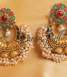 Buy GORGEOUS PEARL CLUSTER BALI HUGE EARRINGS necklace-set online