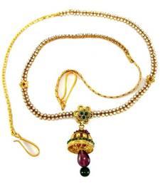 Buy  Bollywood style 2line cz rhinestone gold tone bridal jhoomer waist belt b02 waist-belt online