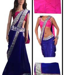 Buy Katrina Kaif Hot Blue Sari  katrina-kaif-saree online