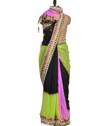 Buy Anushka Multicolror Georgette saree  contemporary and chic summer saree anushka-sharma-saree online