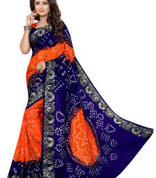 Buy Multicolor printed georgette saree with blouse wedding-saree online