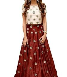 Buy Red  embroidered Georgette  lehenga-choli ghagra-choli online